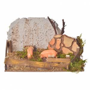 Corral de cerdos con sonido s1