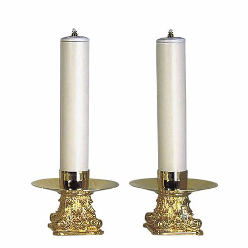 Couple of candle holders and PVC candles s1