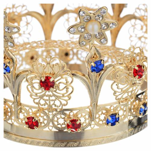 Couronne royale avec strass pour statue religieuse s6