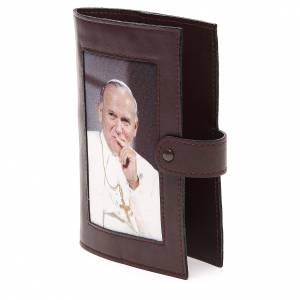 Couv. Lit. Heures 4 vol. cuir brun foncé Jean-Paul II s2