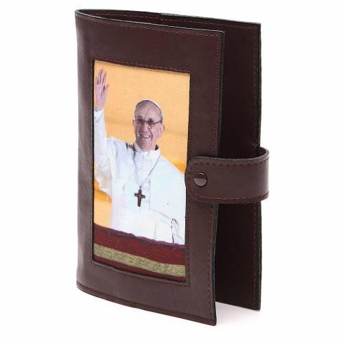 Couv. Lit. Heures 4 vol. cuir brun foncé Pape François s2