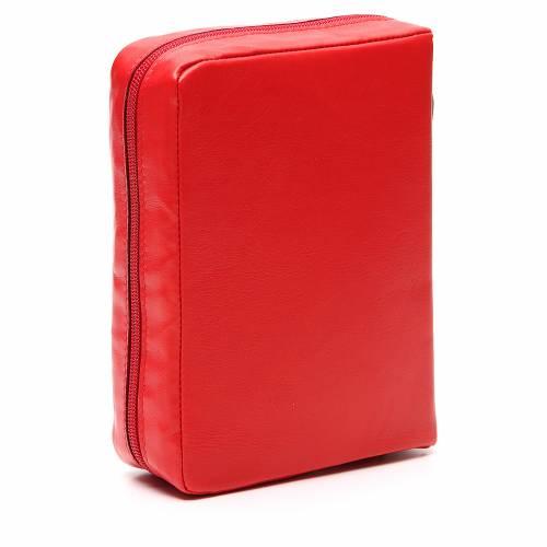 Couverture Bible Jérusalem rouge Vierge Kiko fermeture éclair s3