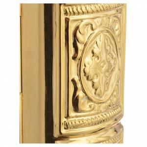Couverture lectionnaire laiton doré scène Crucifixion s6