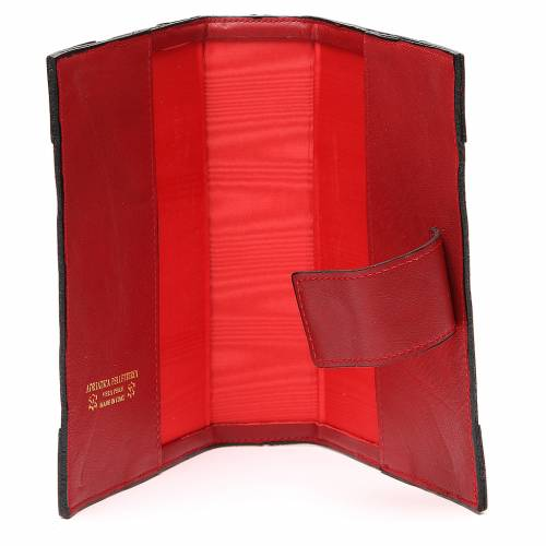 Couverture Lit. Heures 4 vol. cuir rouge Alpha Oméga aimant 5