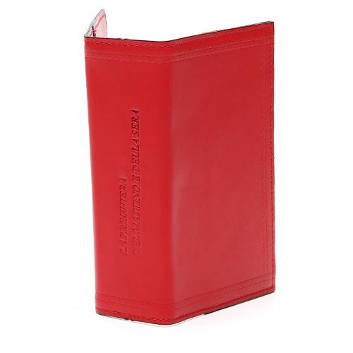 Couverture Lit. Heures vol. unique inscription imprimée cuir rouge s4