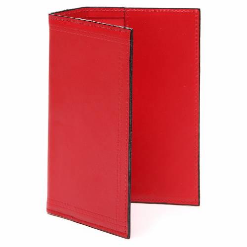 Couverture Lit. Heures vol. unique inscription imprimée cuir rouge s2