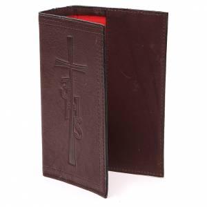 Couverture Lit. Vol. unique cuir brun foncé croix IHS s2