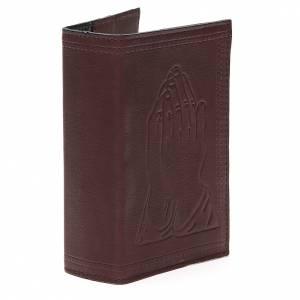 Couverture Lit. Vol. unique cuir brun foncé mains jointes s4
