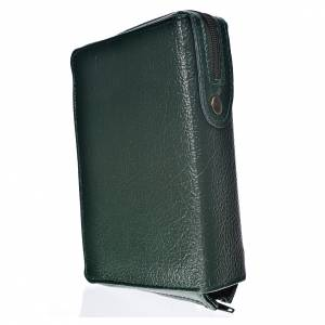 Daily Prayer covers: Cover Daily prayer green bonded leather with Holy Family image