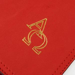 Missal and Benedictional covers: Cover for Benedictional in leather, Alpha Omega