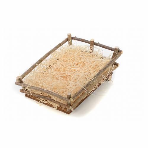 Cradle in wood and straw 27-30 cm Landi s1