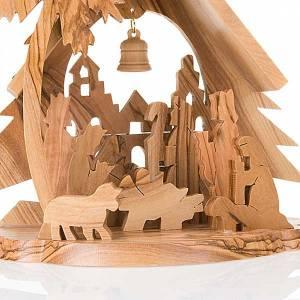 Crèche bois d'olivier étoile s2