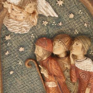 Crèche d'Autun complète bois peint s4