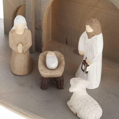 Crèche stylisée en bois cm 10.5 s3