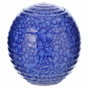Cremation urn in ceramic Murano Blue model s1