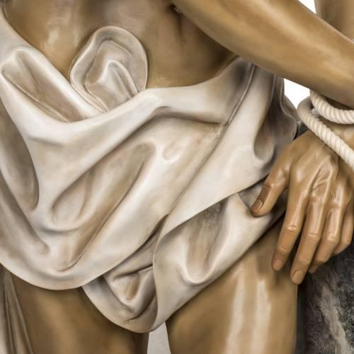 Cristo alla colonna 180 cm pasta di legno dec. anticata s5