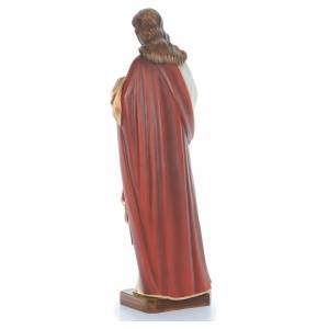 Cristo bendecidor 100 cm belén fibra de vidrio coloreada s4