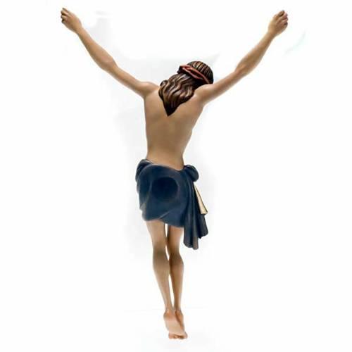 Cristo in legno dipinto Siena Val Gardena s5