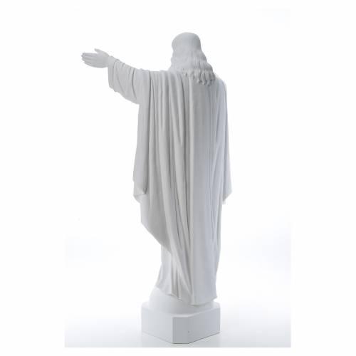 Cristo Redentor de mármol 100 cm s3