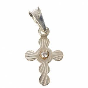 Pendenti, croci, spille, catenelle: Croce a sfere Argento e zircone
