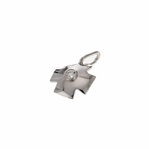 Croce argento 925 con zircone cm 1,5 s4