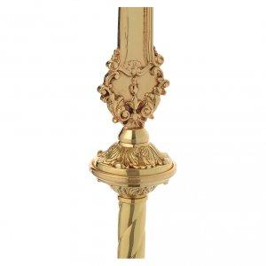 Croce astile barocca ottone bicolore 63x35 cm s5