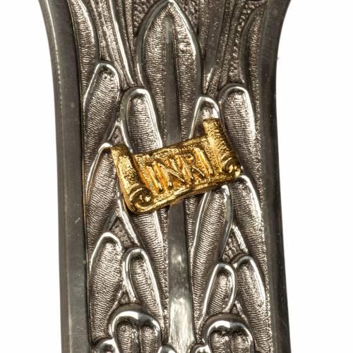 Croce astile bronzo argentato corpo dorato s3