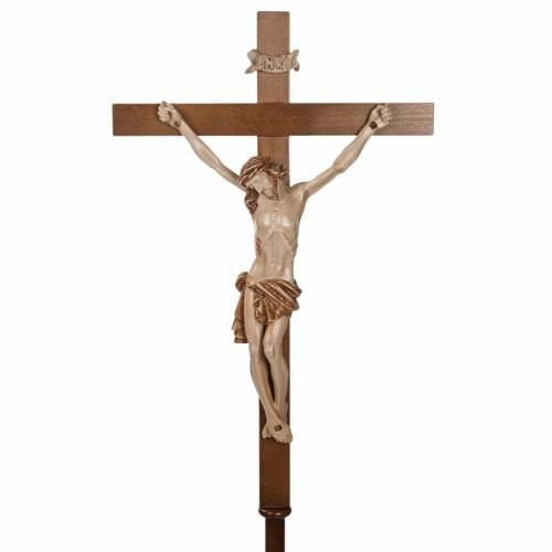 Croce astile legno di noce s3