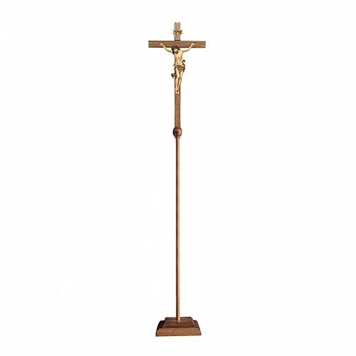 Croce astile processionale Leonardo oro zecchino antico s1