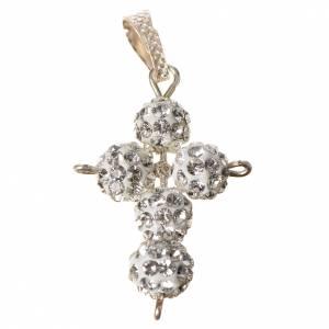 Pendenti, croci, spille, catenelle: Croce con perle Swarovski 2,5x1,5 cm
