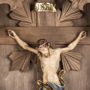 Croce di campagna abete con corpo Cristo Val Gardena s4