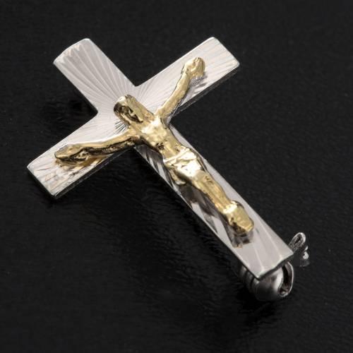 Croce distintivo clergy argento 925 lavorato cm2,5 s2