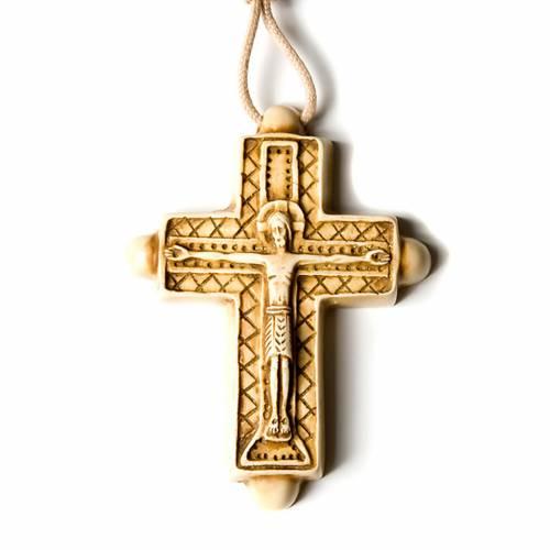 Croce pendente color avorio s4