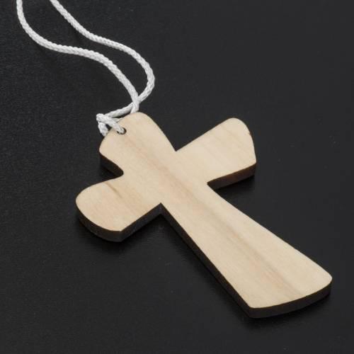 Croce Prima Comunione legno calice ostia 9,8x7,2cm s4