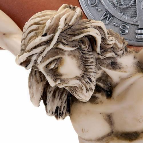 Croce San Benedetto ciliegio naturale 71 cm s4