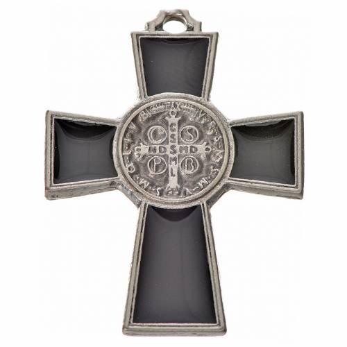 Croce San Benedetto zama 4x3 smalto nero s2