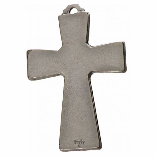 Croce Spirito Santo zama cm 5x3,5 smalto blu s2