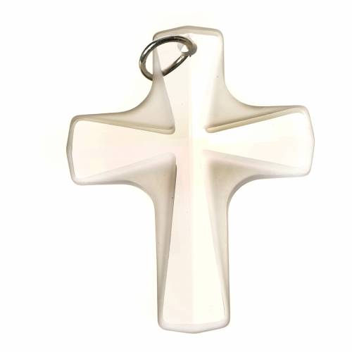 Croce cristallo bianco 4x3cm s1