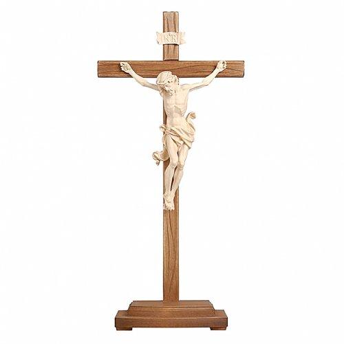 Crocefisso naturale Leonardo croce con base s1