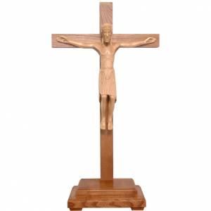 Crocifisso da tavolo di Altenstadt 52cm Valgardena patinato s1