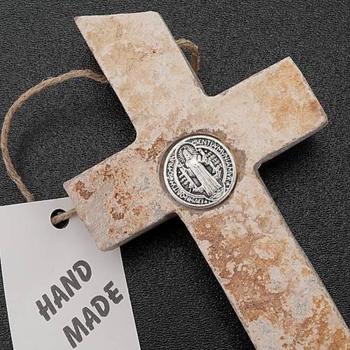 Crocefisso Medjugorje in pietra S. Benedetto 2