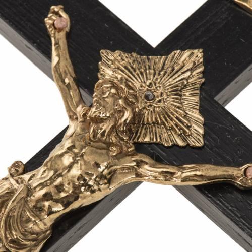 Crocifisso per sacerdoti in legno di rovere 16x8 cm s3