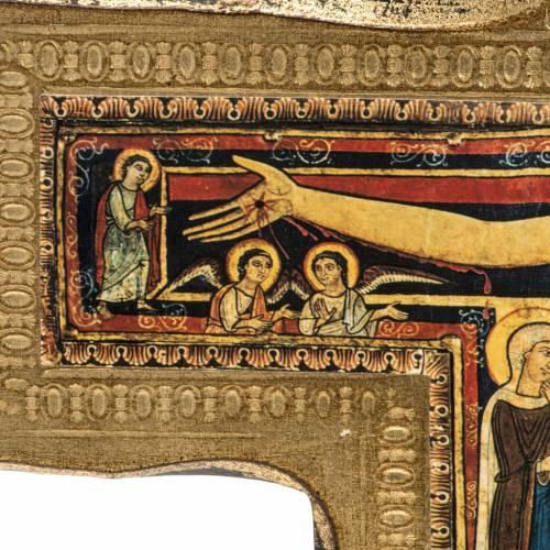 Crocifisso San Damiano legno bordo irregolare s4