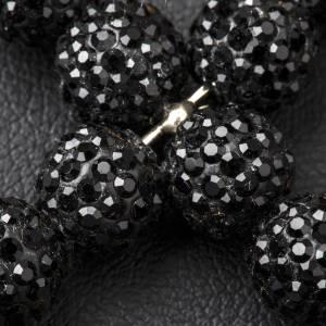 Croix avec perles Swarovski noires 5x4 cm s3