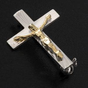 Croix de Clergyman: Croix clergyman argent 925 décorée h 2.5 cm