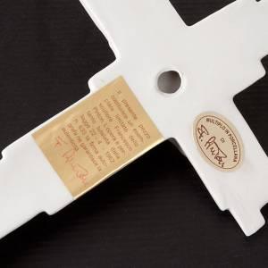 Crucifix en céramique artistique, porcelaine et argile: Croix crucifixion, résurrection