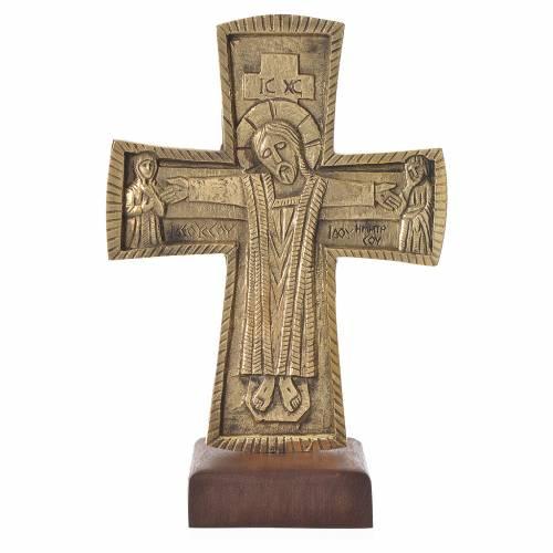 Croix d'autel Christ Grand Prêtre 28x19 cm Moines de Bethléem s1