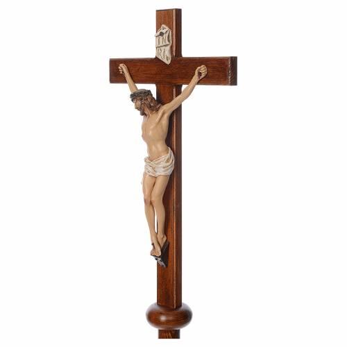Croix de procession en résine et bois 210cm h Landi s5