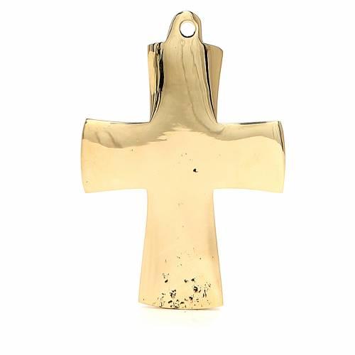 Croix Jésus grand prêtre Moines Bethléem laiton 9x6cm s3