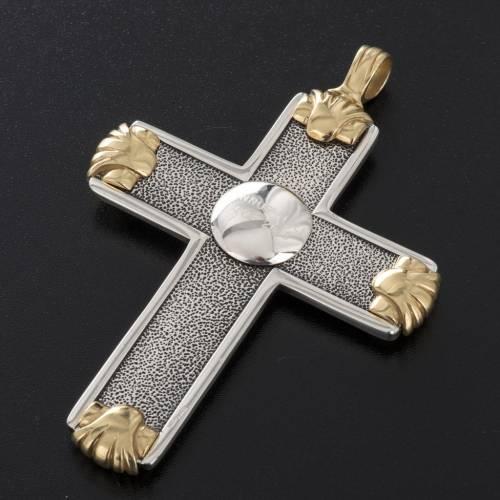 Croix pectorale Année de la Foi argent 925 bicolore s5